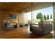 3 seater sectional modular aluminium garden sofa HAMPTONS | 3 seater garden sofa - Roberti Rattan