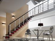 Open staircase with central stringer KNOCK DESIGN - RINTAL