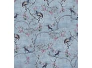 Bathroom wallpaper with floral pattern HANAMACHI - Wall&decò