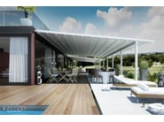 Aluminium pergola with sliding cover with built-in lights FUSION - DIRELLO