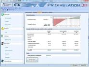Solar, photovoltaic plant calculation PV-Simulation 3D - EDILCLIMA