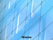 Stainless steel Continuous facade system CRUISE - FARAONE