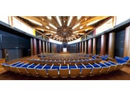 Wooden auditorium seats with writing tablet EIDOS WOOD - Ares Line