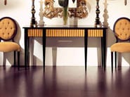 Classic style rectangular console table EBANO ORO - Transition by Casali