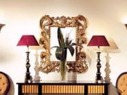 Wall-mounted framed rectangular mirror FOGLIA - Transition by Casali