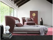Upholstered armchair with removable cover CÉLINE | Armchair bed - Flou