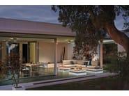 Rectangular iroko garden side table AIR | Garden side table - MANUTTI