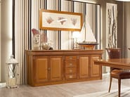 Sectional solid wood sideboard with doors SESTANTE | Sideboard - Caroti