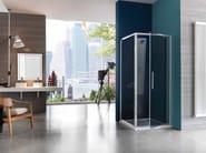 Corner shower cabin with hinged door PIXEL | Corner shower cabin - Samo