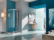 Corner shower cabin with tray EUROPA SP | Corner shower cabin - Samo