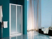 Niche shower cabin with tray with folding door AMERICA | Shower cabin with folding door - Samo