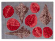 Handmade rectangular rug AUTUMN LEAVES - Deirdre Dyson