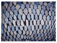 Patterned handmade rug FISH SCALES - Deirdre Dyson