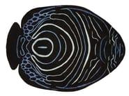 Patterned handmade rug ANGELFISH - Deirdre Dyson