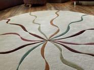 Handmade rug FALLING RIBBONS   Round rug - Deirdre Dyson