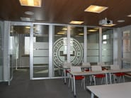 Glass movable sound-proof partition walls PMIV - GLASS - ANAUNIA