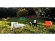Corten™ outdoor chair COLOR CORTEN STYLE | Garden bench - Metalco
