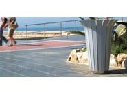 Steel waste bin TULIP - Metalco