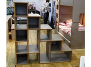 Open freestanding double-sided MDF bookcase DAVID | Bookcase - Mathy by Bols