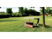 Corten™ picnic table MERENDA - Metalco