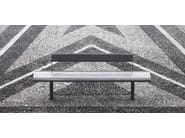 Contemporary style stainless steel Bench with back GEA - Metalco