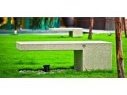 Composite material Bench AMBRA - Metalco