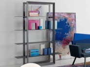 Bookcase with structure made of oa UPPER - ITALY DREAM DESIGN - Kallisté