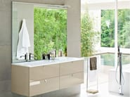 Lacquered vanity unit with mirror COMP MFE07 - IdeaGroup