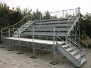 Modular system for steel platform and stand 5 ROW COMPATTA TRIBUNE - SELVOLINA
