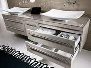 Double vanity unit with mirror COMP TE8 - IdeaGroup