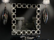 Wall-mounted framed square mirror AMBIANCE 142 | Mirror - Transition by Casali