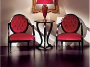 Medallion upholstered armchair with armrests AMBIANCE 104 | Armchair - Transition by Casali