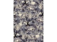 Printed linen fabric with floral pattern VAGABOND - LELIEVRE
