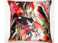 Square polyester cushion FIDELES PRINTEMPS - LELIEVRE