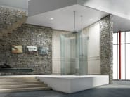 Free standing glass shower cabin ICONA ISLAND - MEGIUS