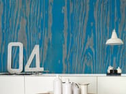 Wood effect wallpaper BLUE ESSENCE - Wall&decò
