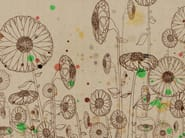 Wallpaper with floral pattern DRIPPING - Wall&decò