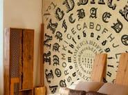 Wall effect writing wallpaper ALPHABETICAL SWIRL - Wall&decò