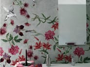 Wallpaper with floral pattern COLIBREEZE - Wall&decò