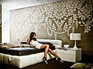 Wallpaper with floral pattern LOOST IN THE FLOOD - Wall&decò