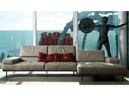 Design 4 seater corner leather sofa with headrest RESORT | Corner sofa - ITALY DREAM DESIGN - Kallisté