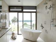 Wall effect bathroom wallpaper MARIPOSA - Wall&decò