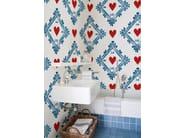 Motif bathroom wallpaper FIN DU SIECLE - Wall&decò