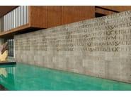 Wall effect outdoor writing wallpaper LOREM IPSUM - Wall&decò