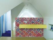 Geometric bathroom wallpaper TEPPI TEPPI - Wall&decò