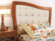 Wooden storage bed with tufted headboard for kids' bedroom PIRATA | Bed with upholstered headboard - Caroti