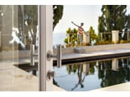 Stainless steel door handle on rose ONE   Door handle on rose - Formani Holland B.V.