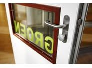Stainless steel door handle on back plate BASIC | Door handle on back plate - Formani Holland B.V.