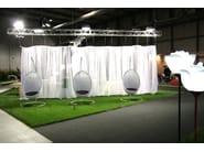Fabric room divider ONDINA - Grigolite