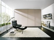 Wardrobe Atlante with Sheer sliding doors mat lacquered